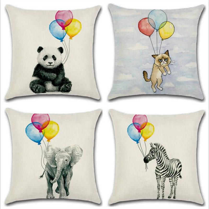 45cm*45cm The balloon hanging in the light design linen/cotton throw pillow covers couch cushion covers home decorative pillow