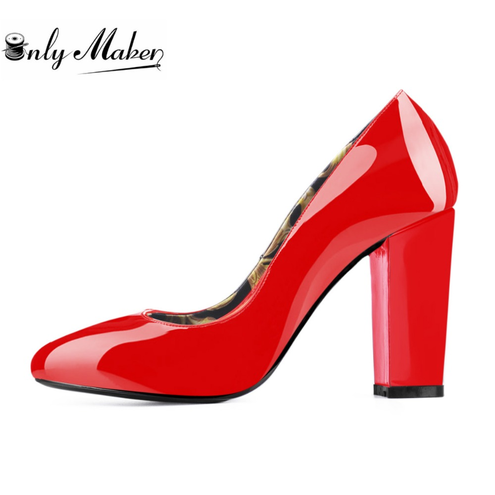 ФОТО Onlymaker Genuine Leather Shoes Women's Wedding Shoes Party Shoes zapatos mujer high heels sapato feminino big size 13