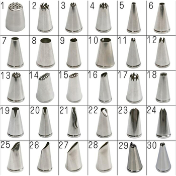 TTLIFE Metal Cream Nozzles Cake Decorating Tools Stainless Steel Icing Piping Nozzle Tips Cake Fondant Dessert Decor Baking Tool 2a icing tip nozzle cake decorating tips stainless steel icing fondant piping decorating nozzle tip baking