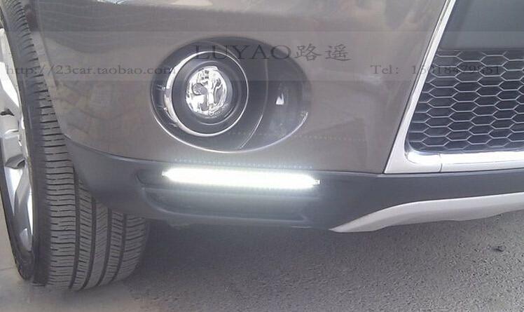 Сид DRL дневного света для Мицубиси Аутлендер с желтыми поворотниками