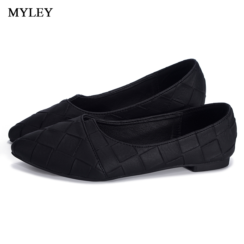 MYLEY Rhinestone Pointed Toe Flat Heel Shoes Woman Single Fashion Flat Shoes Spring Autumn Loafers Casual Shoe Zapatos Mujer akexiya spring fashion women shoes pointed toe slip on flat shoes woman comfortable single casual flats size 35 39 zapatos mujer