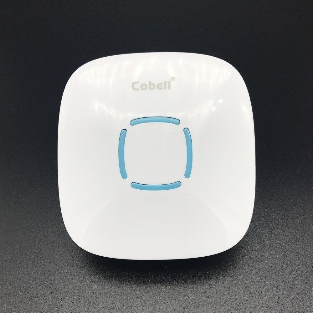 Cobell IP44 Водонепроницаемый Беспроводной дверной звонок с 36 куранты без Батарея Smart дверной звонок 110 В-220 В ЕС США Великобритании Разъем для бе... ...