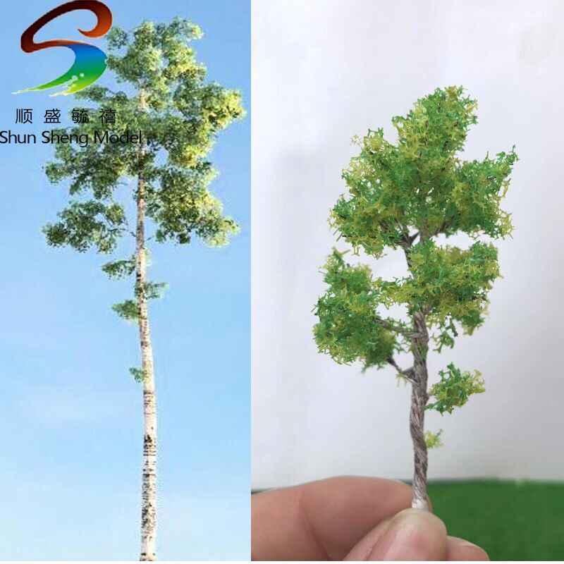 Shun sheng model drzewa budynek piaskownica stołowa model drzewa drut drzewo brzoza