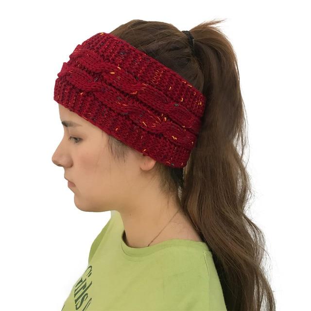 4caaff900f3 Empty Baggy Skullies Beanies Winter Warm Slouchy Chic Crochet Women Knitted  Ponytail Braided Bun Hat Men