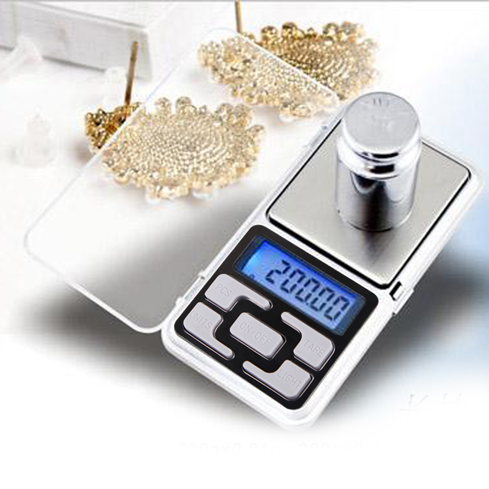 200gx0.01g LCD Digital Pocket Scales Portable Jewelry Balance Measuring Scales with Blue Backlight Kitchen Tools