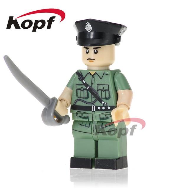 pg1036 single sale hongkong police marine corps bricks building blocks kids gifts toys best education model