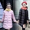 Crianças de varejo Casaco Longo Para Baixo Meninas Jaqueta de Inverno Novas Crianças Meninas Para Baixo Casacos Quentes Com Capuz Roupas Outerwear Crianças Parkas Roupas