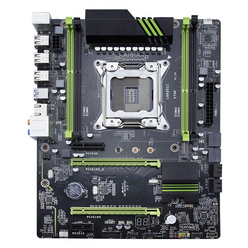 ATX Motherboard LGA2011 X79P USB3.0 Sata3 NVME M.2 Pci-E Ssd Suporte ECC REG Memória E Processador Xeon E5 Mainboard