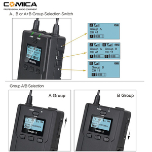 Image 2 - Wireless Lavalier Microphone System, Comica CVM WM200 UHF Wireless Lapel Mic for DSLR Camera, XLR Camcorders Video Recording