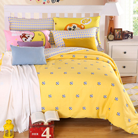 Deer Penguin Cow Fox Train Football Kids Bedding Set Twin Queen King Size Bright Color Cartoon