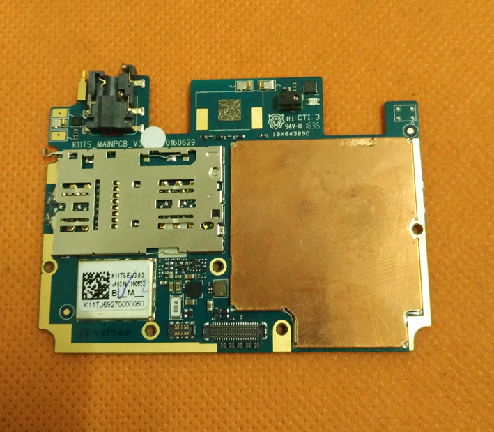 Carte mère d'origine 4G RAM + 32G ROM Carte Mère pour Vernee Mars 5.5 FHD MT6755 Octa Core Livraison gratuite