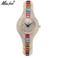 1c64975b3d Exquisite Fashion Women Crystals Watches Famous Brand Luxury Ladies Jewelry  Watch Charm Casual Female Clock Valentine