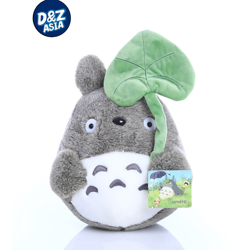 Cartoon Totoro Doll Plush Toys My Neighbor Totoro Stuffed Toy Soft Doll Totoro with Lotus Leaf Kids Toys Gift ty Toys 1pcs 20cm my neighbor totoro cartoon plush toy totoro stuffed animal soft doll girl gift kids toy popular toy free shipping