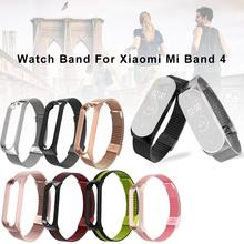 For Xiaomi Mi Band 4 Watch Strap Milanese Bracelet Stainless Steel Smart Watch Buckle Wrist Band Replacement цена и фото