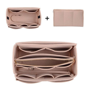 Felt Cloth Handbag Insert Bag Makeup Organizer Travel Portable Cosmetic Bags Storage Bag Inner Purse Fits in Speedy Neverfull 3