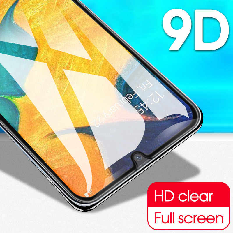 9D Full Glue Tempered Glass For Samsung M50 M30 M20 M10 Screen Protector Galaxy A30 A50 A90 A80 A70 A60 A40 A9 2019 Cover Film