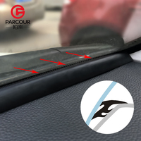 1.6m T type noise insulation auto seal strip Instrument panel instrument front windshield car seal gap Automotive rubber sealing