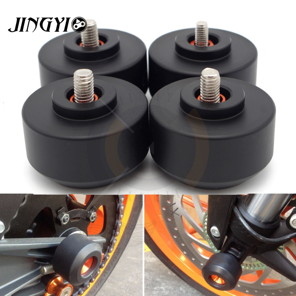 Motorcycle Moto Frame Slider Front/Rear Fork Wheel Falling Protection Anti Crash Protector Pad FOR KTM RC 125 200