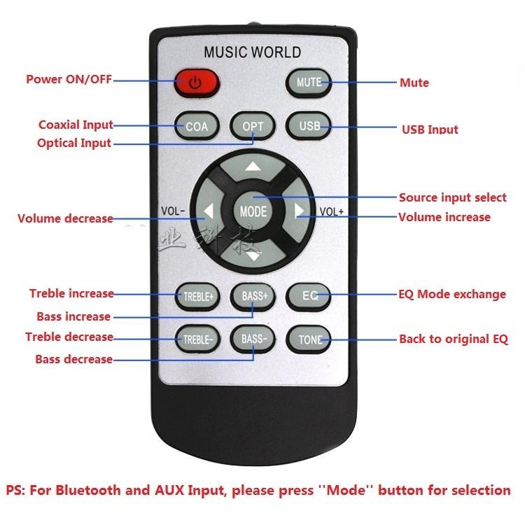 1PCS Original FX-Audio D802/D802C/D802CPRO Remote Controller Without Battery Inside