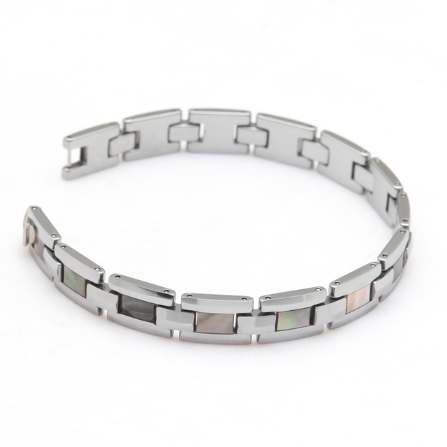 2015 Fashion Jewelry Bracelet Tungsten Man's Link Chain Bracelet Length 22.5cm 1cm Wide Thickness 3mm Weight 67g