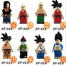 Single Sale LegoINGlys Dragon Ball Z Son Goku Majin Buu Future Trunks Vegeta Building Block Kit Kids Cartoon Children Gifts Toys(China)