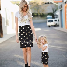 Family Matching Outfits Fashion Set 2pcs Mother Daughter Dress Mom and Dresses Clothes Clothing Sets IT6