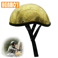 High Quality Motorcycle Helmets Motocross Capacete Half Helmet Retro Open Face Helmet Vintage Style Bronze