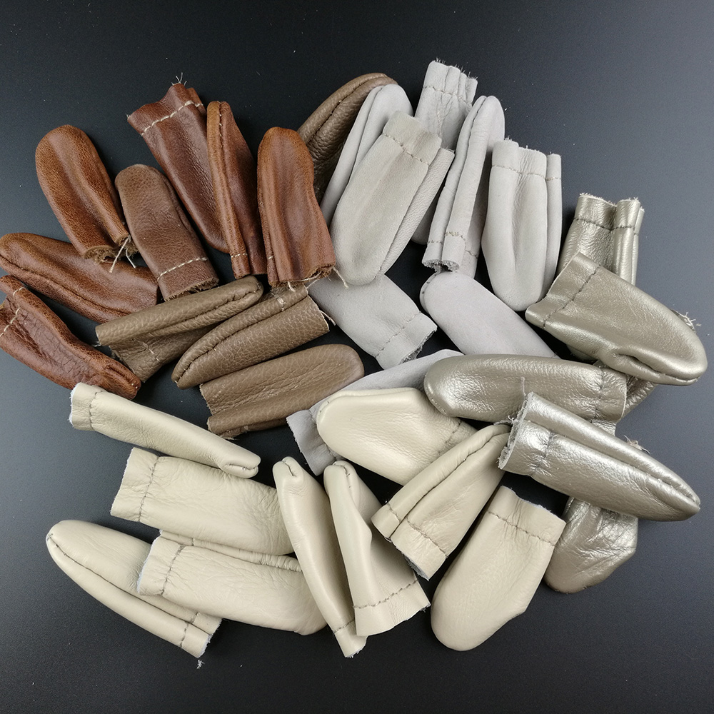 100pcs Thumb Index Finger Safe Embroidery Tool Leather Needle Felting Thumb Index Finger Protector Thimble Craft Tool