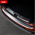 For MITSUBISHI Outlander 2013 2014 2015 Rear Bumper Protector sill plate cover stainless steel trim for Outlander parts
