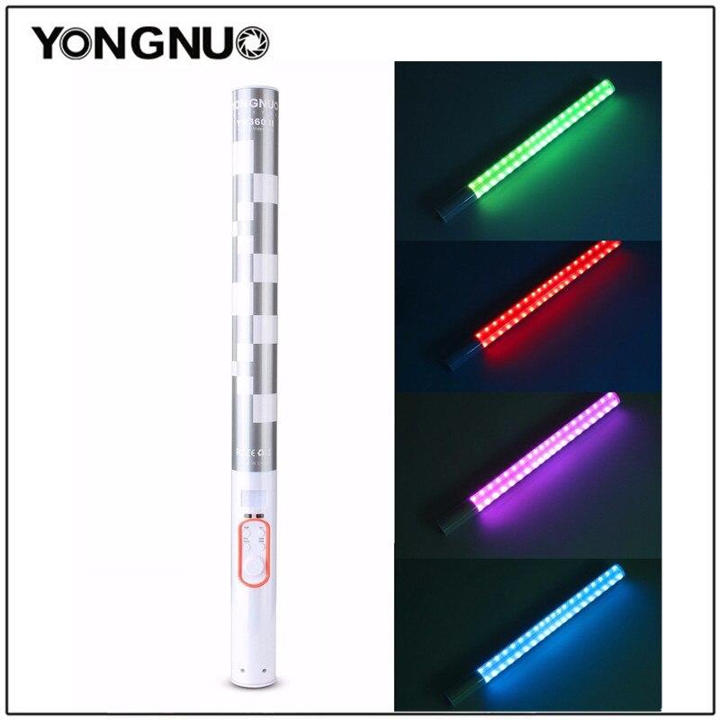 YONGNUO YN360 YN360 II ручной палкой лед светодиодный свет встроенный аккумулятор 3200 К до 5500 К RGB красочные контролируемых по телефону <font><b>App</b></font>