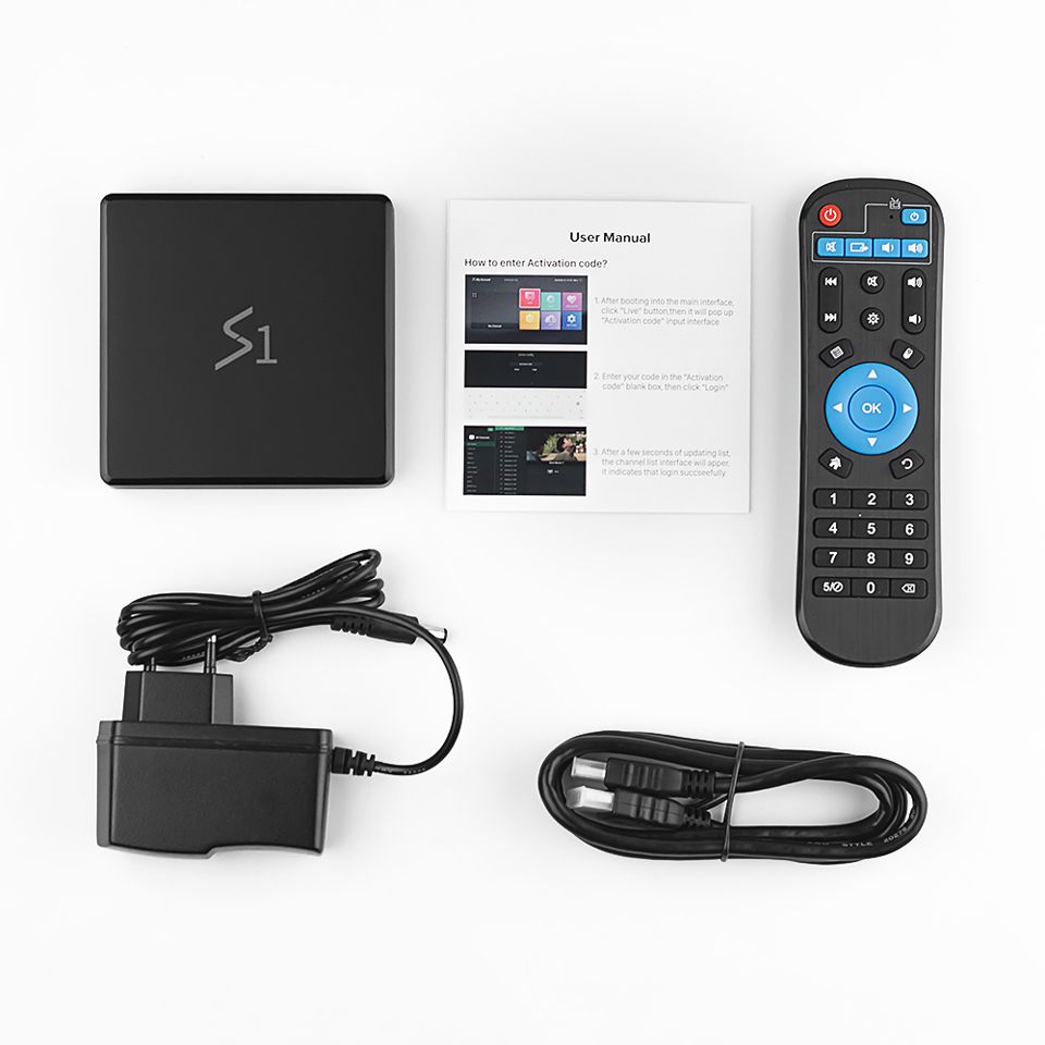 S1 IUDTV Box 1 Year UK Sweden IPTV Subscription FULL HD Android 8.1 HD Smart TV Box IUDTV Germany Italy Indian IPTV Subscription (4)