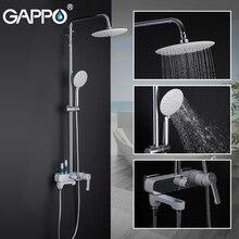 GAPPO baterie natryskowe łazienka biały chrom zestaw prysznicowy bateria wannowa łazienka system prysznicowy G2402 8