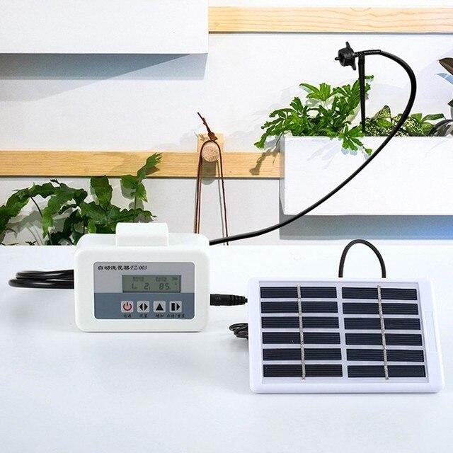 Солнечная энергия автоматическая система полива для цветов Интеллектуальный водяной насос таймер система капельного орошения Набор садовых горшков