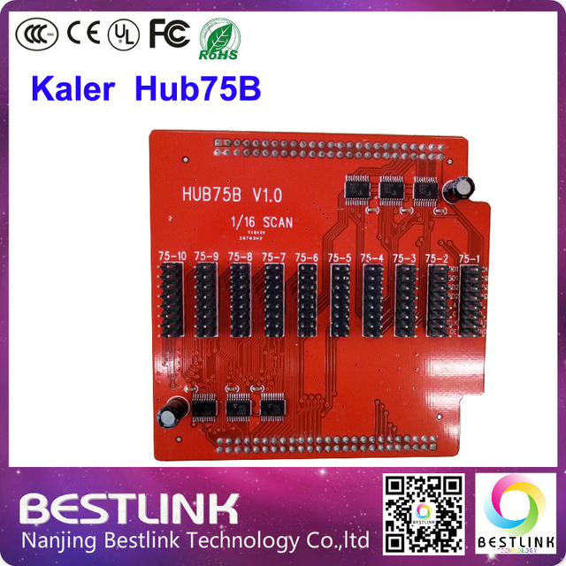hub75b adapter board convert 50pin port to 8 pcs hub75 for kaler control card only rgb for led display screen electronic led diy