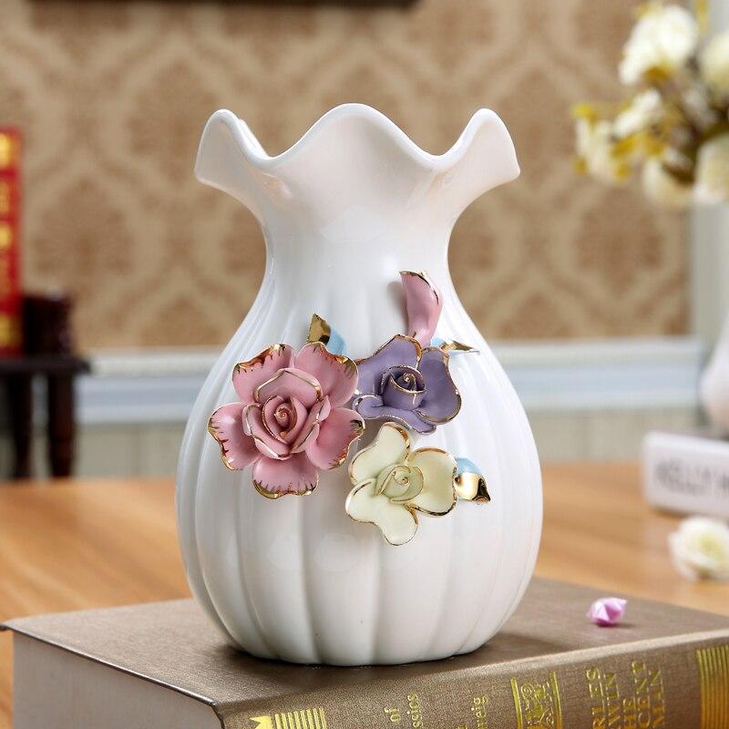 nueva desgin secos florero moderno de color blanco puro y fresco hidropnico flores sala de estar