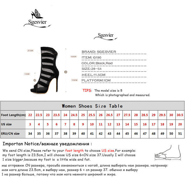 Sgesvier summer peep toe sandals lace female ankle boots high heel sexy sandalias mujer gladiator sandals women big size 28-54