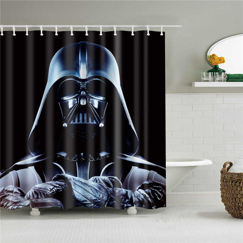 high quality bathroom shower curtains set with hooks home decoration waterproof movie poster portrait printed bath curtain