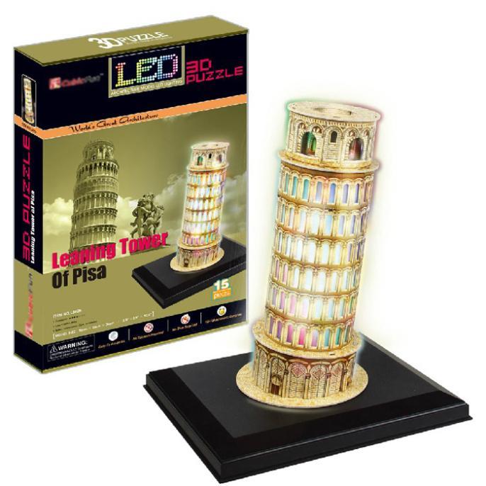 T0479 3D Puzzles Tour Penchée de Pise, italie BRICOLAGE Papier De Construction Modèle Creative cadeau Enfants Éducatifs jouets vente chaude