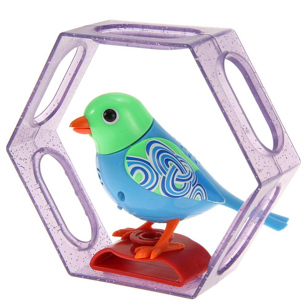20 Voice Control Songs Sound Chirping Singing Music Bird Funny Musical Toy  for Children Kids Electric Bird Toy