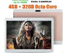 2017 Androide 5.1 10 pulgadas 3G tablet Octa Core 4 GB RAM 64 GB ROM 1280×800 IPS 5.0MP Dual Tarjetas SIM GPS de la Tableta 10.1 Del Ordenador Portátil de DHL envío