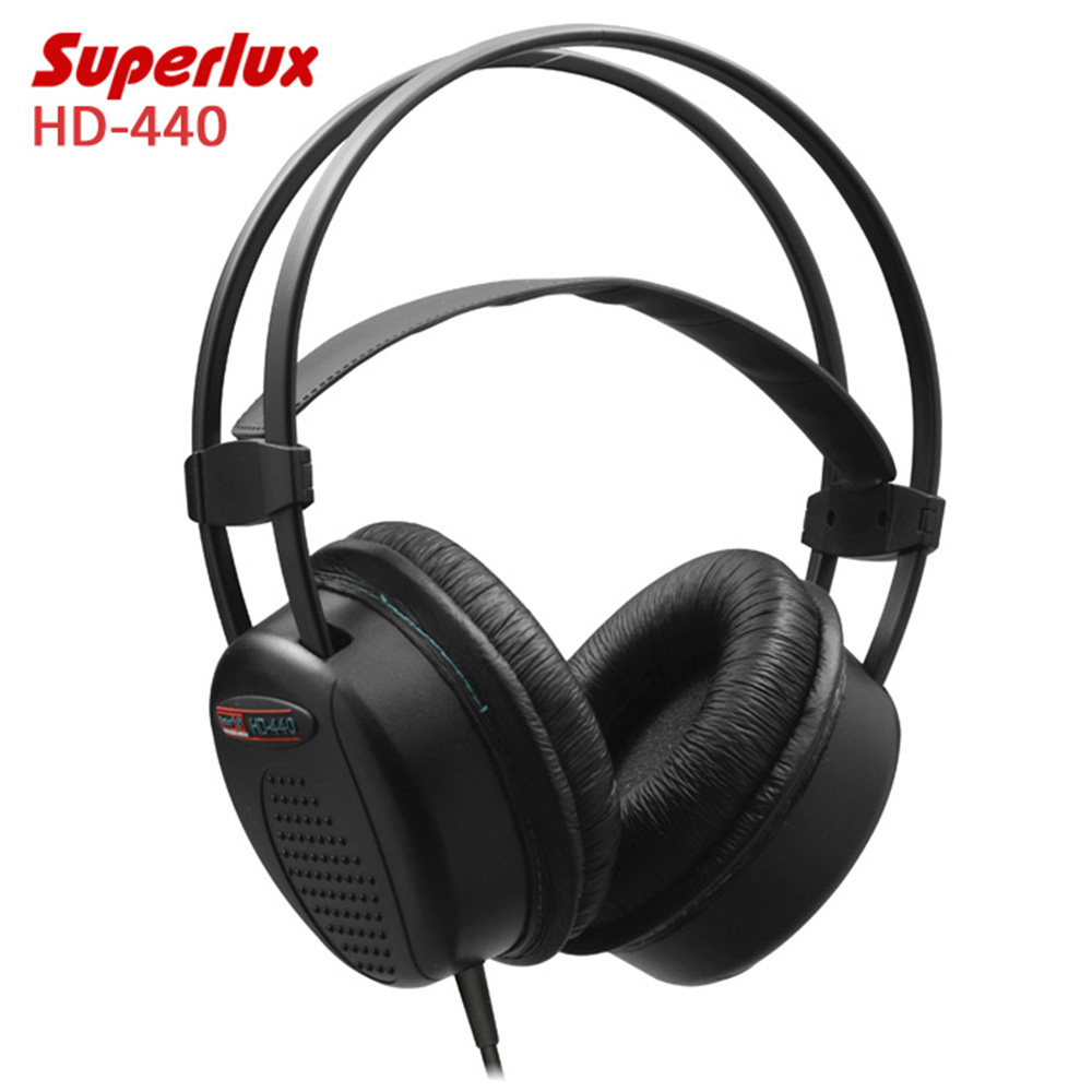 Superlux HD-440 Booming Bass Stereo Headphones Wired Dynamic Closed-back Headset with Auto-adjustable Headband Noise Reduction