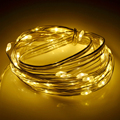 5M 50 Lamps LED Waterproof Copper Line String Light Battery Power for Wedding Christmas Festival Party FULI