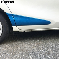 TOMEFON ABS Chrome For Toyota Sienta 2016 2017 Second generation XP170 Side Door Body Trim Stickers Strips Molding Car Styling