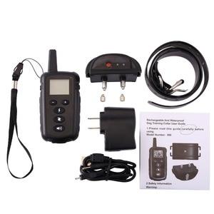 Image 5 - Тренировочный ошейник для собак 500 м с электрошоком для собак водонепроницаемый пульт дистанционного управления устройство для собак зарядка ЖК дисплей