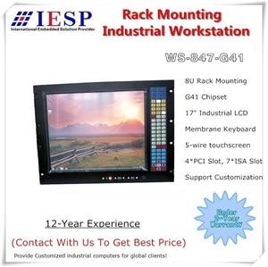Image 1 - 8U Rack Mount Industrie Workstation, 17 zoll LCD, LGA775 CPU, 4GB RAM, 500GB HDD, 4 xPCI, 7 xISA, rack mount industrie computer
