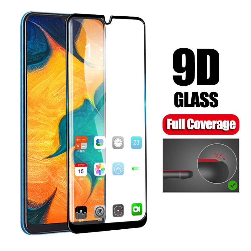 Image 1 - 9D Full Glue Samsun A50 Glass For Samsung Galaxy A70 A40 A30 A50 Protective Glass On The Galax A 50 30 40 70 50A 30A 70A Film-in Phone Screen Protectors from Cellphones & Telecommunications