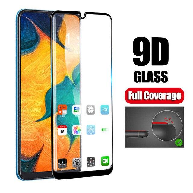 9D Full Glue Samsun A50 Glass For Samsung Galaxy A70 A40 A30 A50 Protective Glass On The Galax A 50 30 40 70 50A 30A 70A Film
