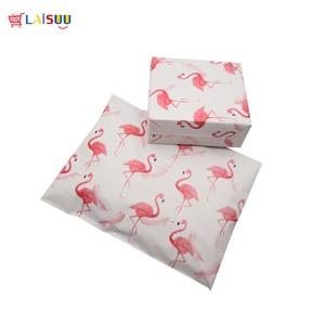 Image 2 - 100 шт 25,5*33 см 10*13 дюймов модные розовые Фламинго шаблон поли почтовые пакеты самопечать пластиковые почтовые конверты