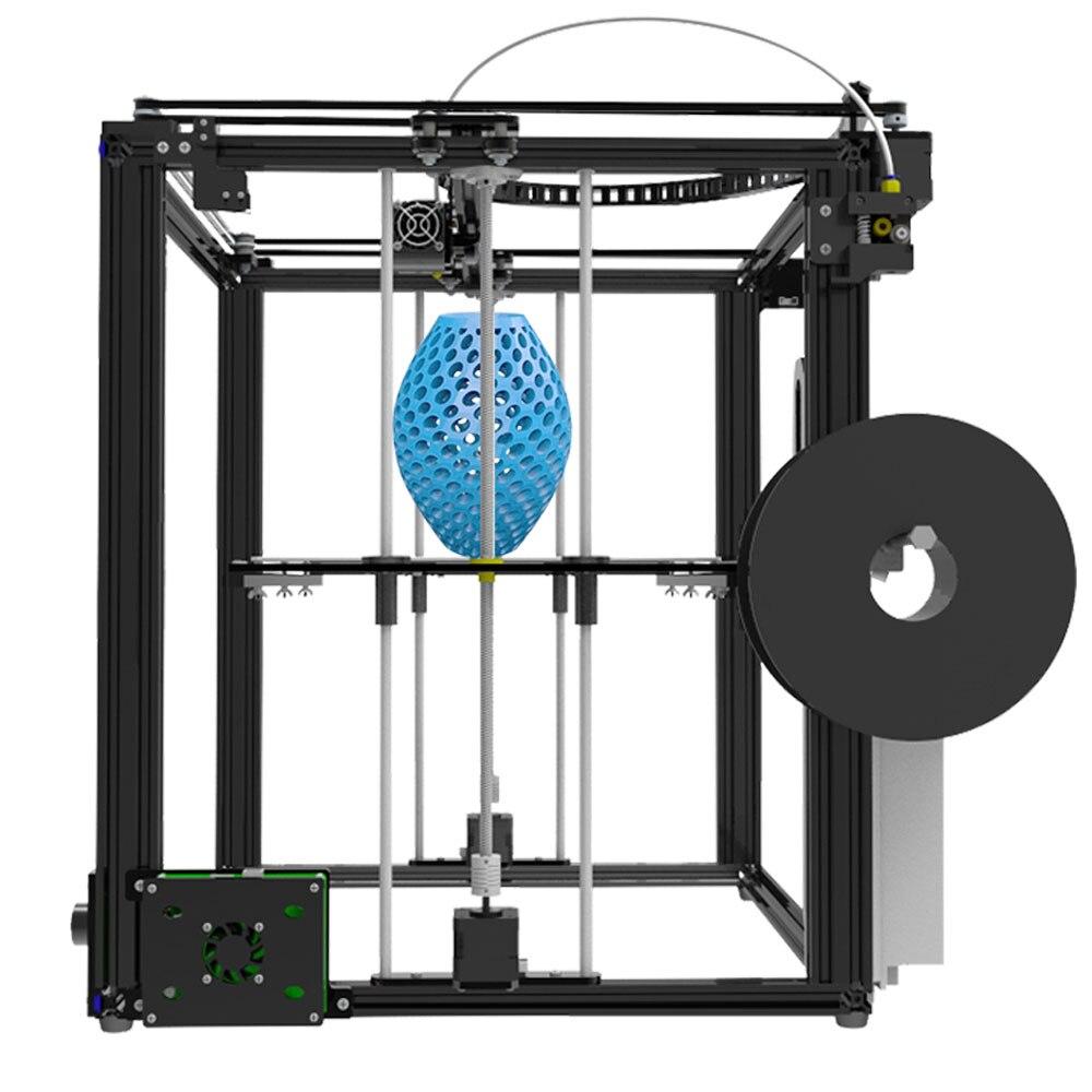 Tronxy Grande taille zone D'impression 3D imprimante X5S DIY kits en aluminium profil joint 12864 LCD contrôleur bowden extrudeuse Grand heatbed plaque - 4