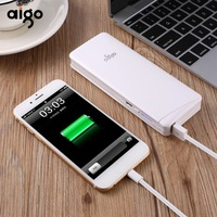 Aigo power bank 10000 mah external battery protable charge for xiaomi samsung 10000mAh Powerbank for iPhone 4 5 6 7 SE phone